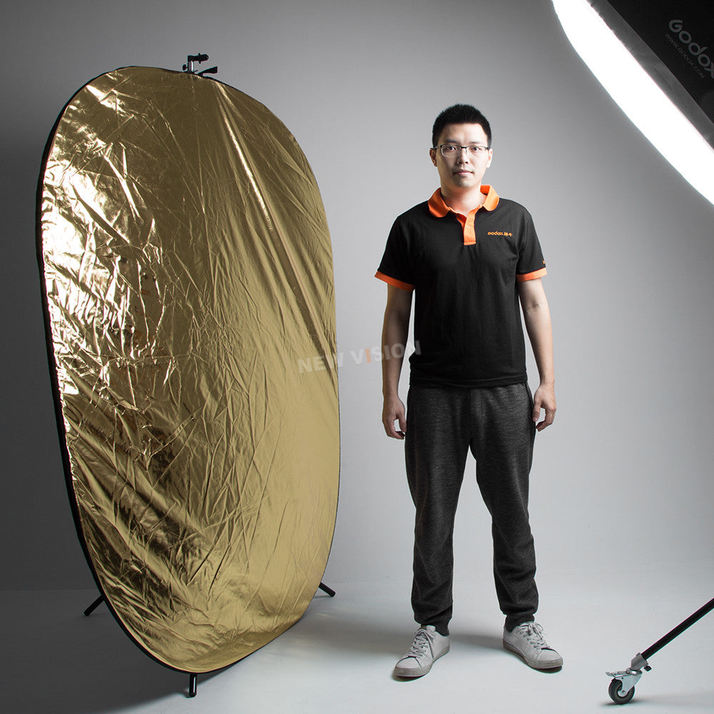 "GODOX 59""x79"" 150 x 200cm 5 in 1  Portable Collapsible Light Round Photography Reflector - Mode de vie Photography and Photo Presets"