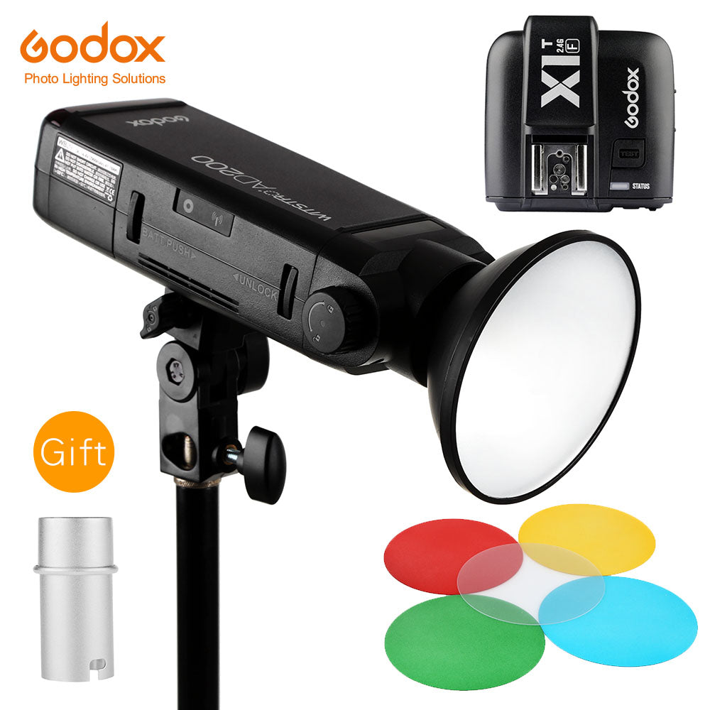 GODOX AD200 TTL 2.4G HSS 1/8000s Flash Light Double Head 200Ws with 2900mAh - Mode de vie Photography and Photo Presets