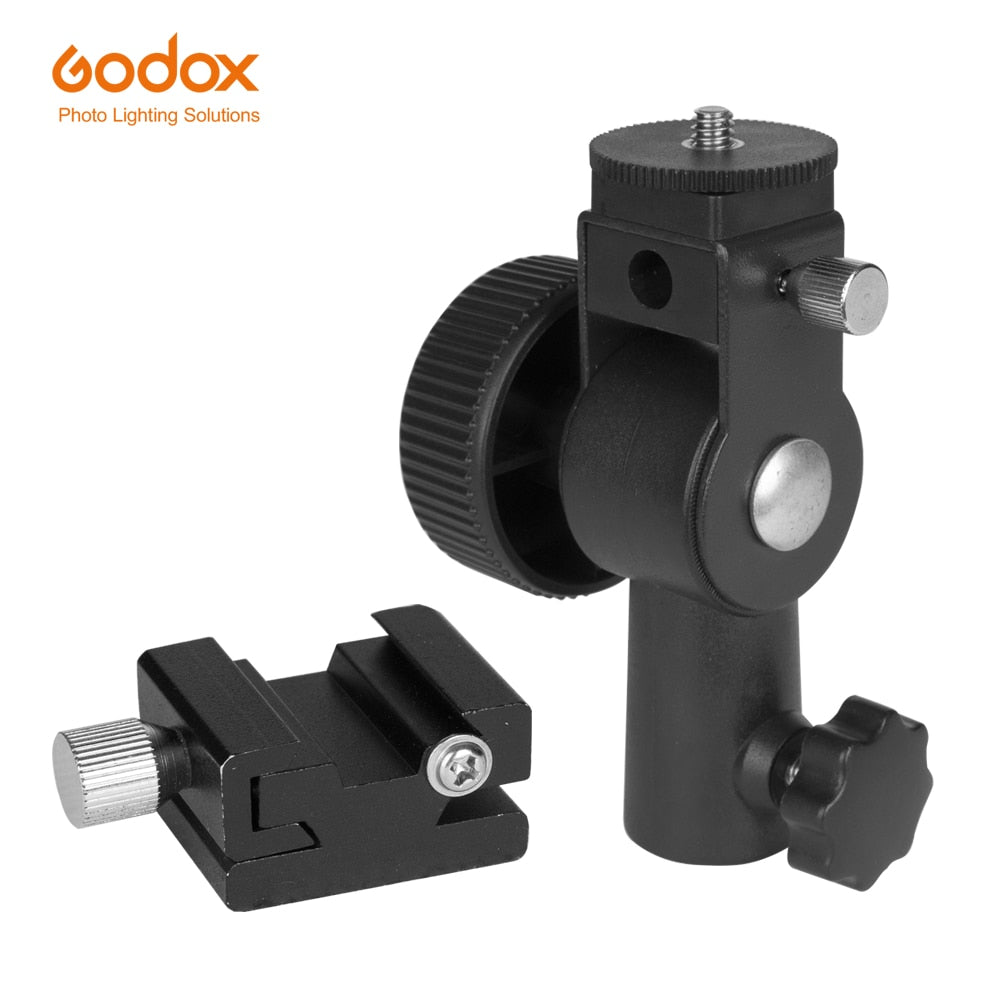 GODOX Type D Flash Hot Shoe Umbrella Holder Mount Bracket for Speedlite - Mode de vie Photography and Photo Presets