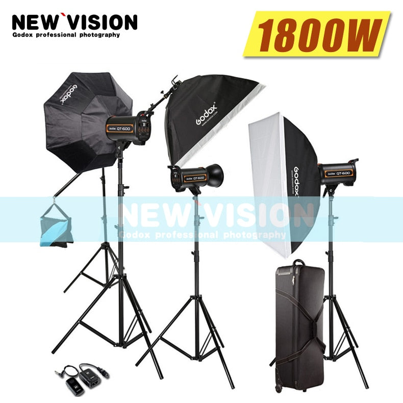 Godox 1800W 3X 600W High Speed Flash Light Studio - Mode de vie Photography and Photo Presets