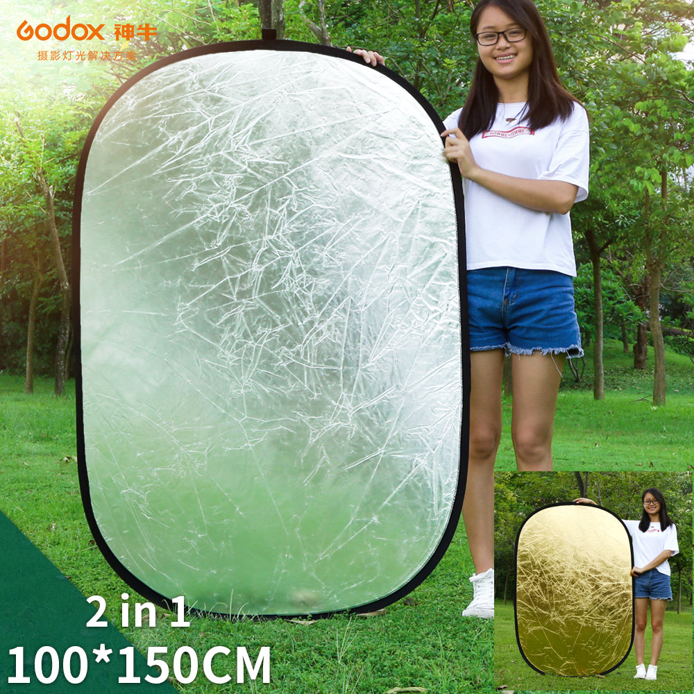 Godox 2 in 1 100x150cm Portable Oval Multi-Disc Reflector,Collapsible Photography Studio - Mode de vie Photography and Photo Presets
