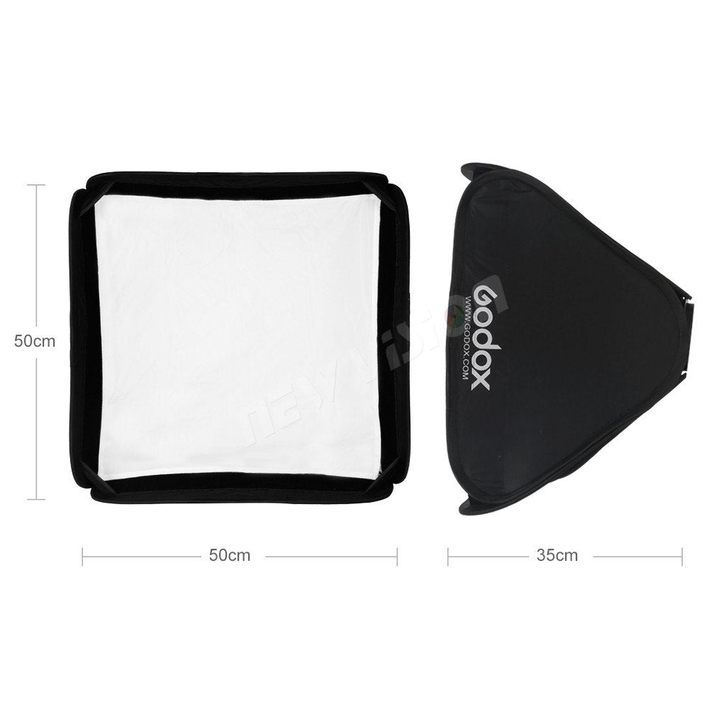 "Godox  20""x20"" 50*50cm foldable Soft Box Godox Suitbale For S-type Bracket Camera Flash - Mode de vie Photography and Photo Presets"