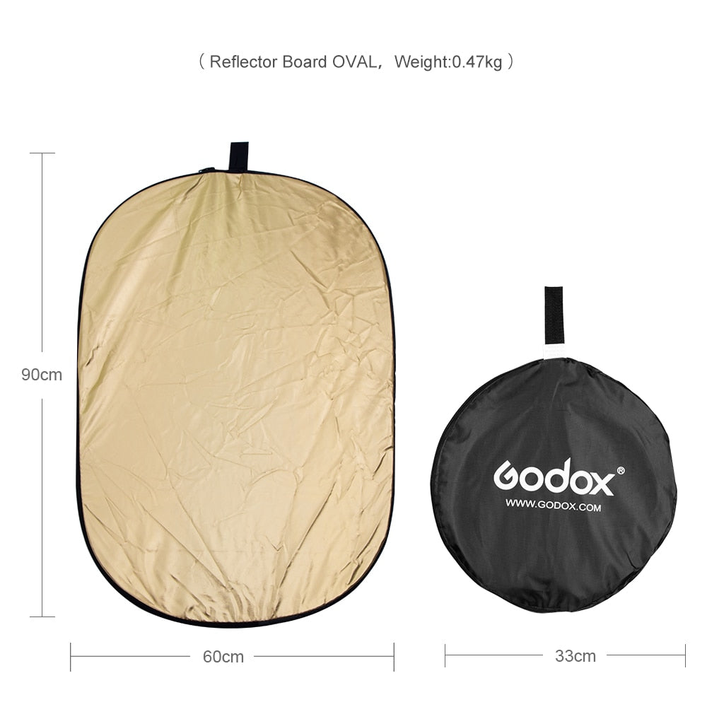 "Godox 24"" * 35""  60 x 90cm 5 in 1 Portable Collapsible Light Oval Photography - Mode de vie Photography and Photo Presets"