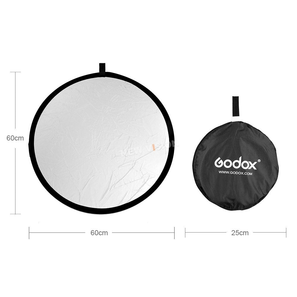 "Godox 24"" 60cm 2 in 1 Portable Collapsible Light Round Photography Reflector for Studio - Mode de vie Photography and Photo Presets"
