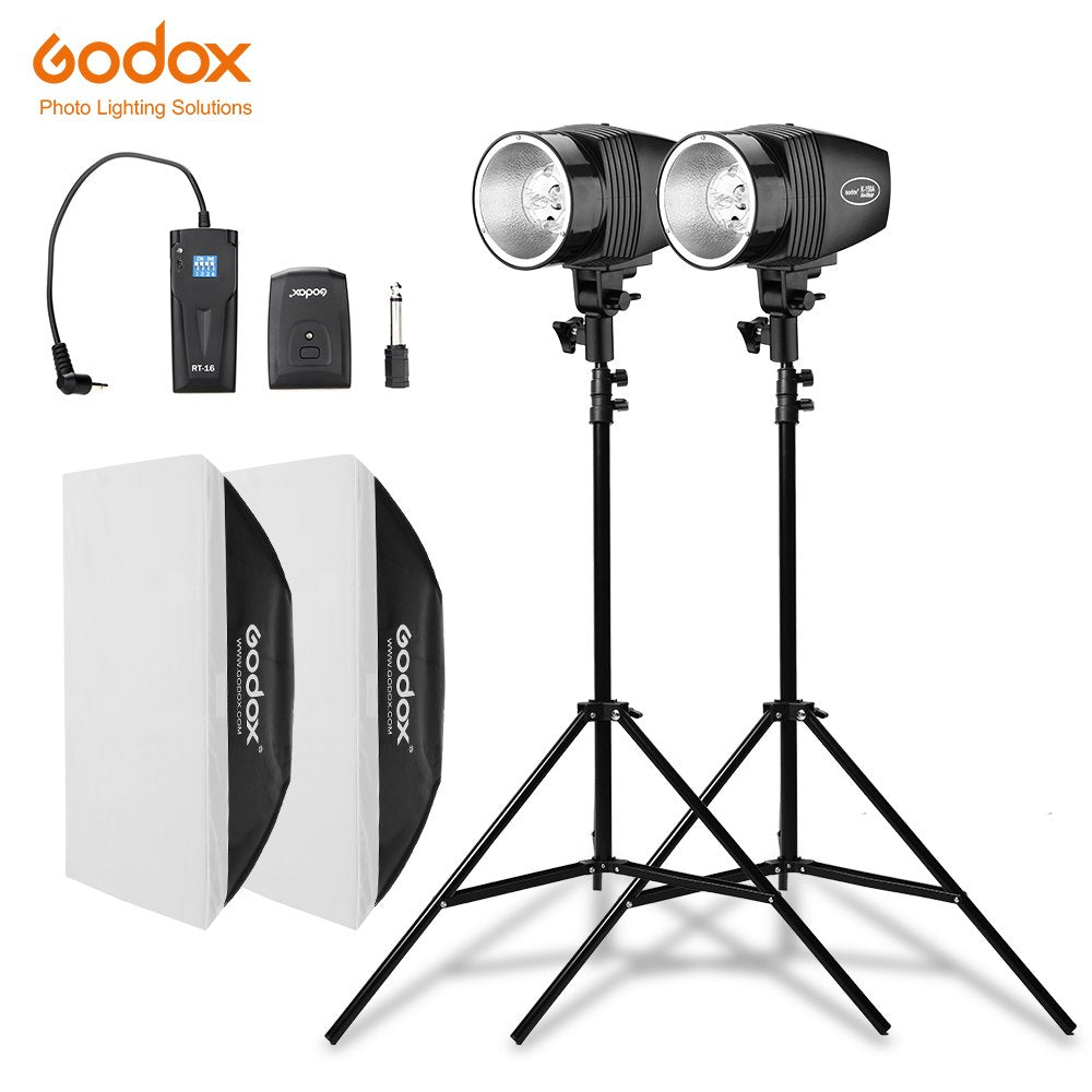 Godox 300Ws 2x K-150A Strobe Studio Flash Light Kit with RT-16 Trigger & 2x 50x70cm - Mode de vie Photography and Photo Presets