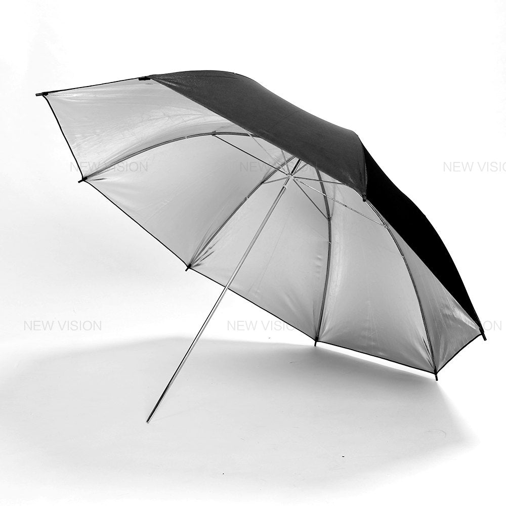 "Godox 40"" 102cm Reflector Umbrella Photo Studio Flash Light Grained Black Silver Umbrella - Mode de vie Photography and Photo Presets"