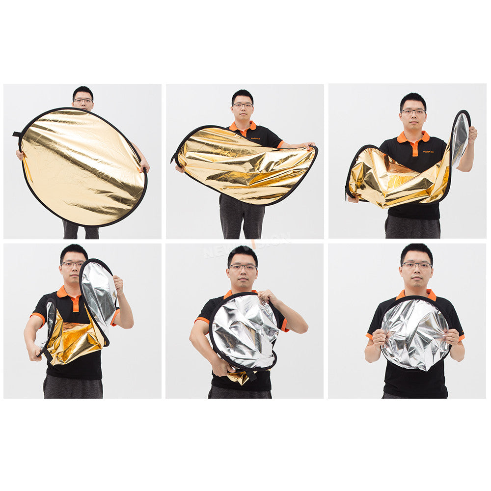 "Godox 43"" 110cm 2 in 1 Portable Collapsible Light Round Photography Reflector for Studio - Mode de vie Photography and Photo Presets"
