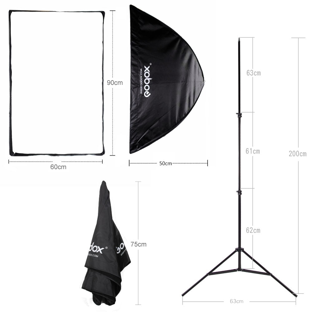 "Godox 60*90cm 24"" * 35"" Honeycomb Grid Rectangle Umbrella Softbox Light Stand Hot Shoe - Mode de vie Photography and Photo Presets"