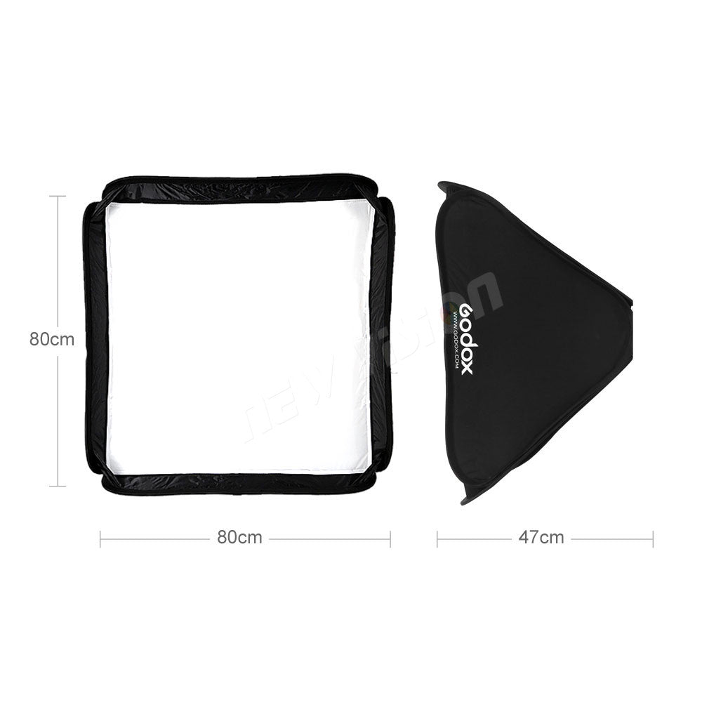 Godox 80*80cm Foldable SoftBox Godox Suitbale For S-type Bracket Camera Flash - Mode de vie Photography and Photo Presets