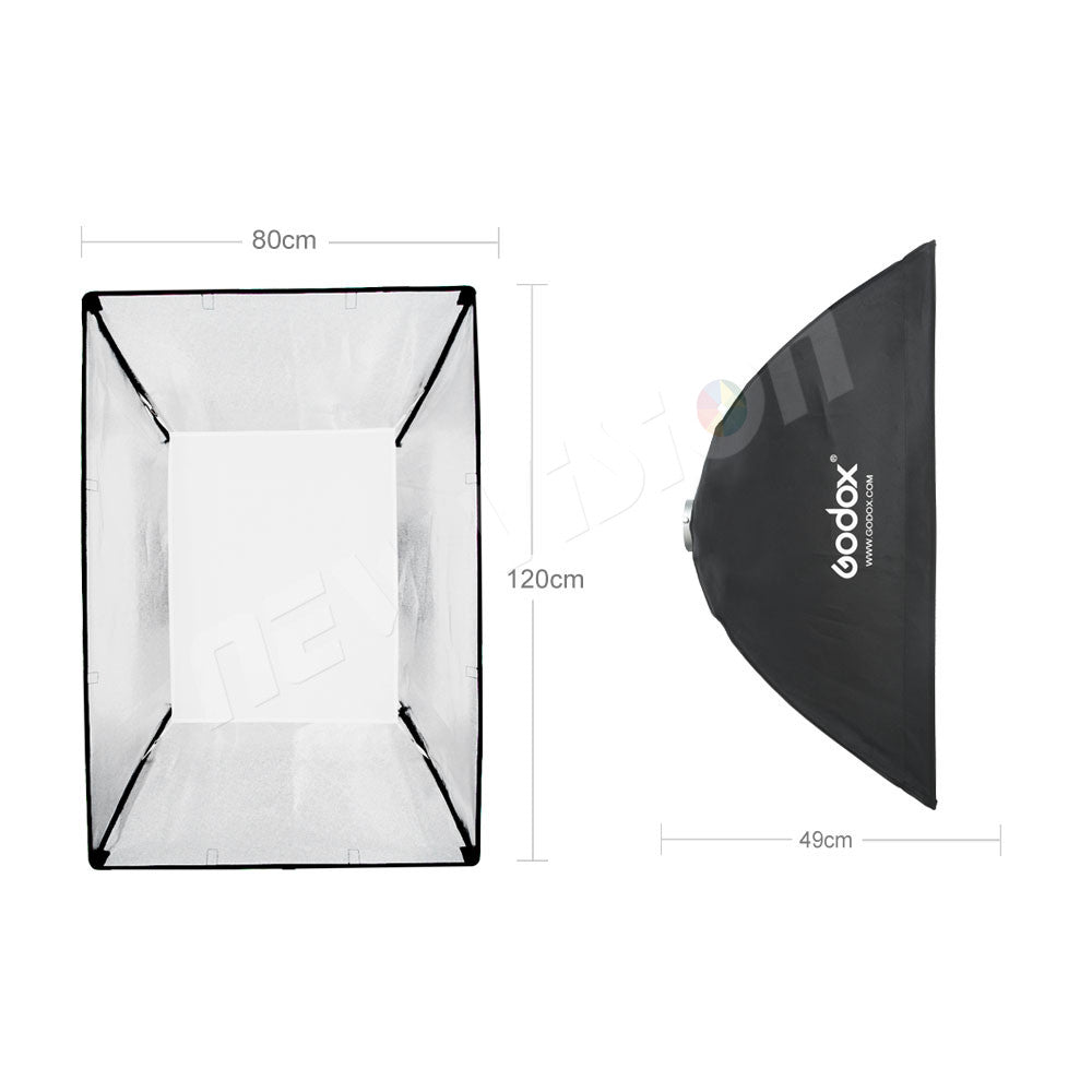 "Godox 80 x 120cm 31.5""x 47"" Speedlite Studio Strobe Flash Photo Reflective Softbox Diffuser - Mode de vie Photography and Photo Presets"