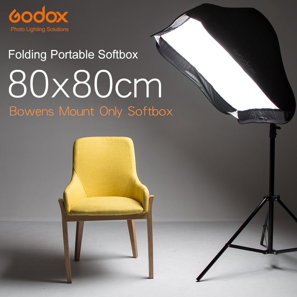 "Godox 80 x 80cm 31.5""x 31.5"" Folding Portable Softbox Speedlite Studio Strobe Flash Photo - Mode de vie Photography and Photo Presets"