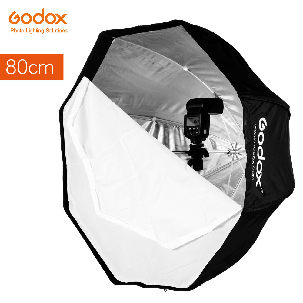 Godox 80cm 31.5in Portable Octagonal Softbox Flash Speedlight Speedlite Umbrella Softbox - Mode de vie Photography and Photo Presets