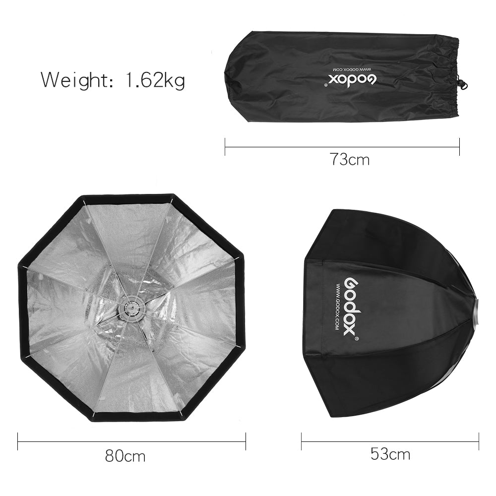Godox 80cm Portable Octagonal Umbrella Softbox SB-UE 80cm 31.5in with Bowens Mount - Mode de vie Photography and Photo Presets