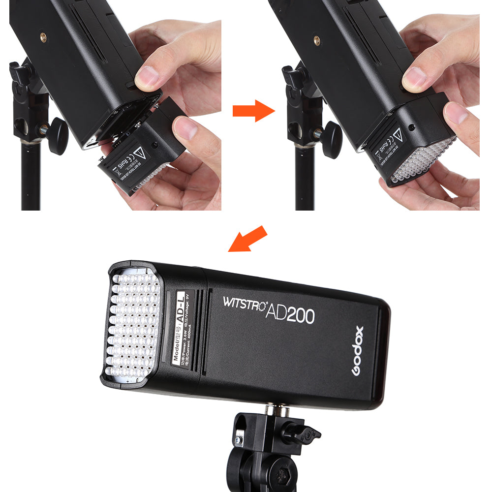 Godox AD-L LED Light Head Dedicated for AD200 Portable Outdoor Pocket Flash Accessories - Mode de vie Photography and Photo Presets