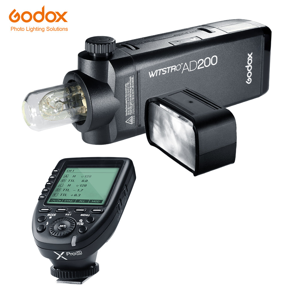 Godox AD200 200Ws TTL GN60 HSS Flash Strobe Built-in 2.4G Wireless X System TTL - Mode de vie Photography and Photo Presets