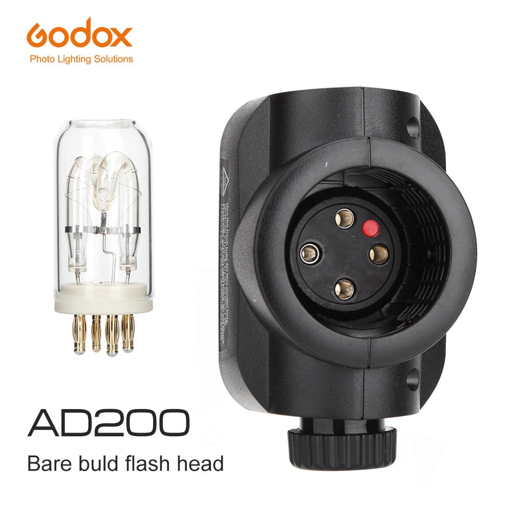Godox AD200 H200J Bare Bulb Flash Head for Godox AD200 with Flash Bulb - Mode de vie Photography and Photo Presets