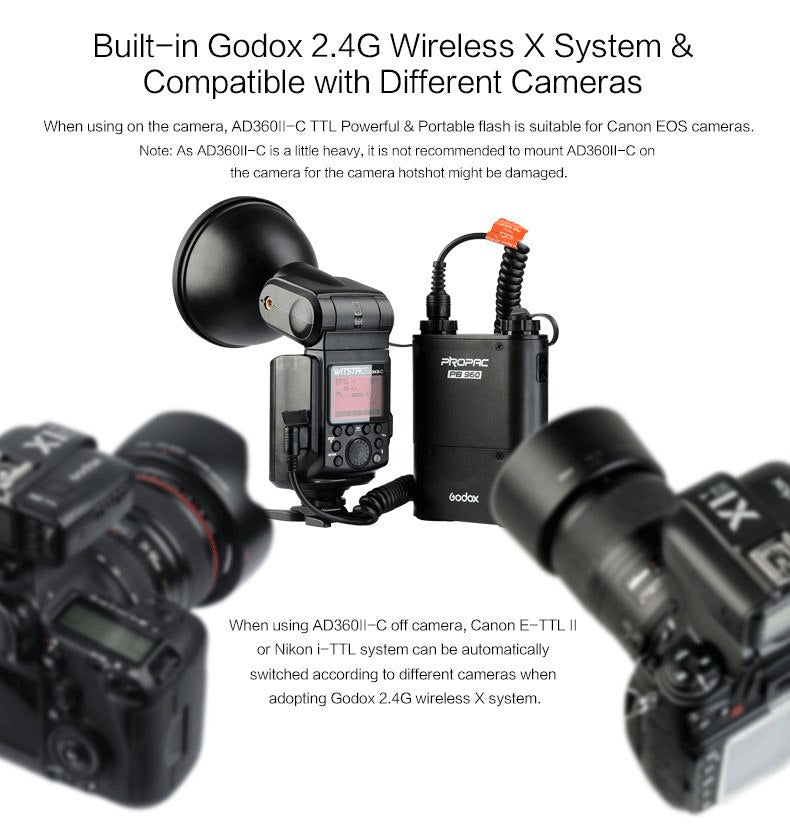 Godox AD360II-C TTL On/Off-Camera Flash Speedlite 2.4G Wireless X System for Canon EOS - Mode de vie Photography and Photo Presets