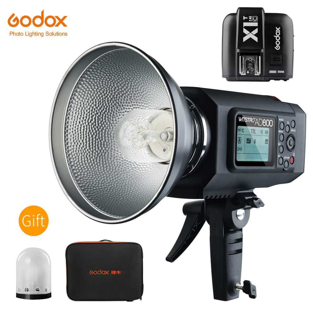 Godox AD600 600W TTL HSS 1/8000s Portable Outdoor Flash with X1T-C Trigger for Canon - Mode de vie Photography and Photo Presets