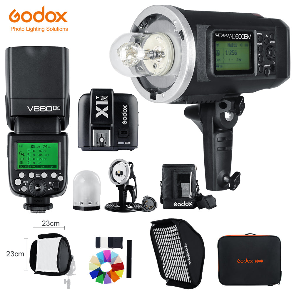 Godox AD600BM 1/8000 HSS Flash GN87 + V860II-S TTL HSS 1/8000 Li-ion Battery - Mode de vie Photography and Photo Presets