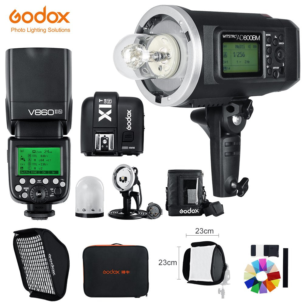 Godox AD600BM 1/8000 HSS GN87 + V860II-N E-TTL HSS 1/8000 Flash Speedlite +X1T-N - Mode de vie Photography and Photo Presets