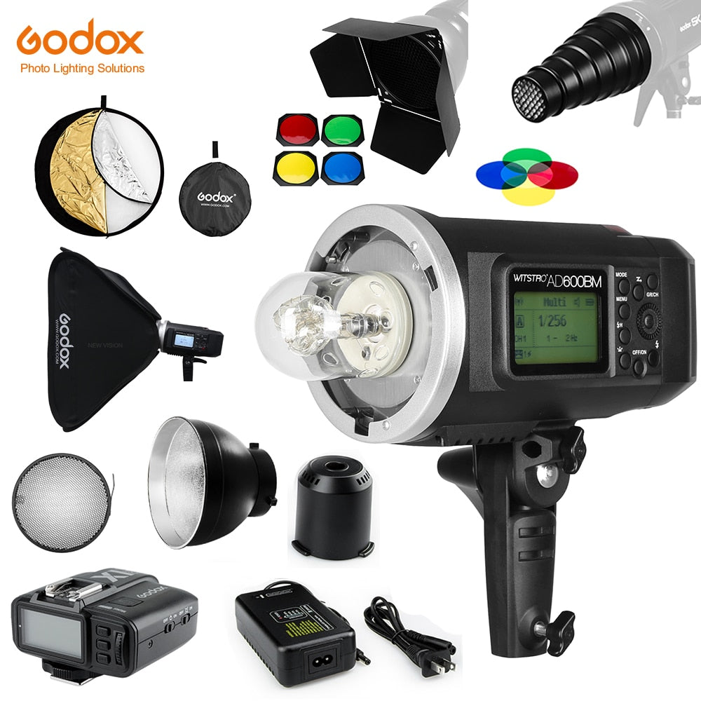 Godox AD600BM Bowens Mount 600Ws GN87 1/8000 HSS Outdoor Flash with X1T Wireless - Mode de vie Photography and Photo Presets