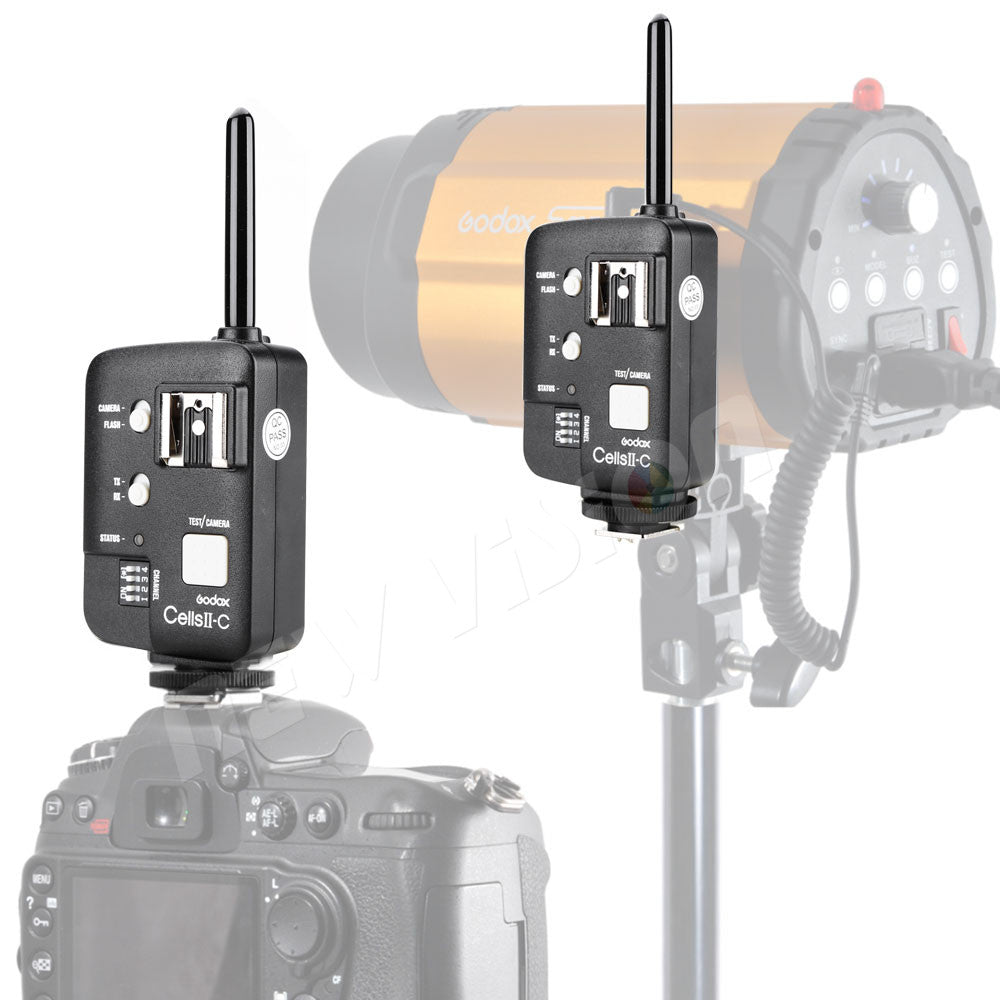 Godox Cells II Single Receiver Wireless Flash Studio Strobe Trigger Transceiver / Remote Shutter Release for Canon - Mode de vie Photography and Photo Presets