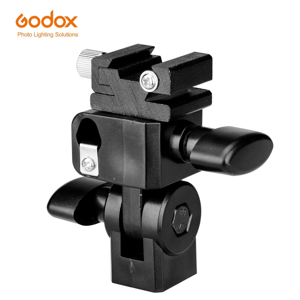Godox E-Type Flash Hot Shoe Umbrella Holder Swivel Bracket Mount Light Stand Type E - Mode de vie Photography and Photo Presets