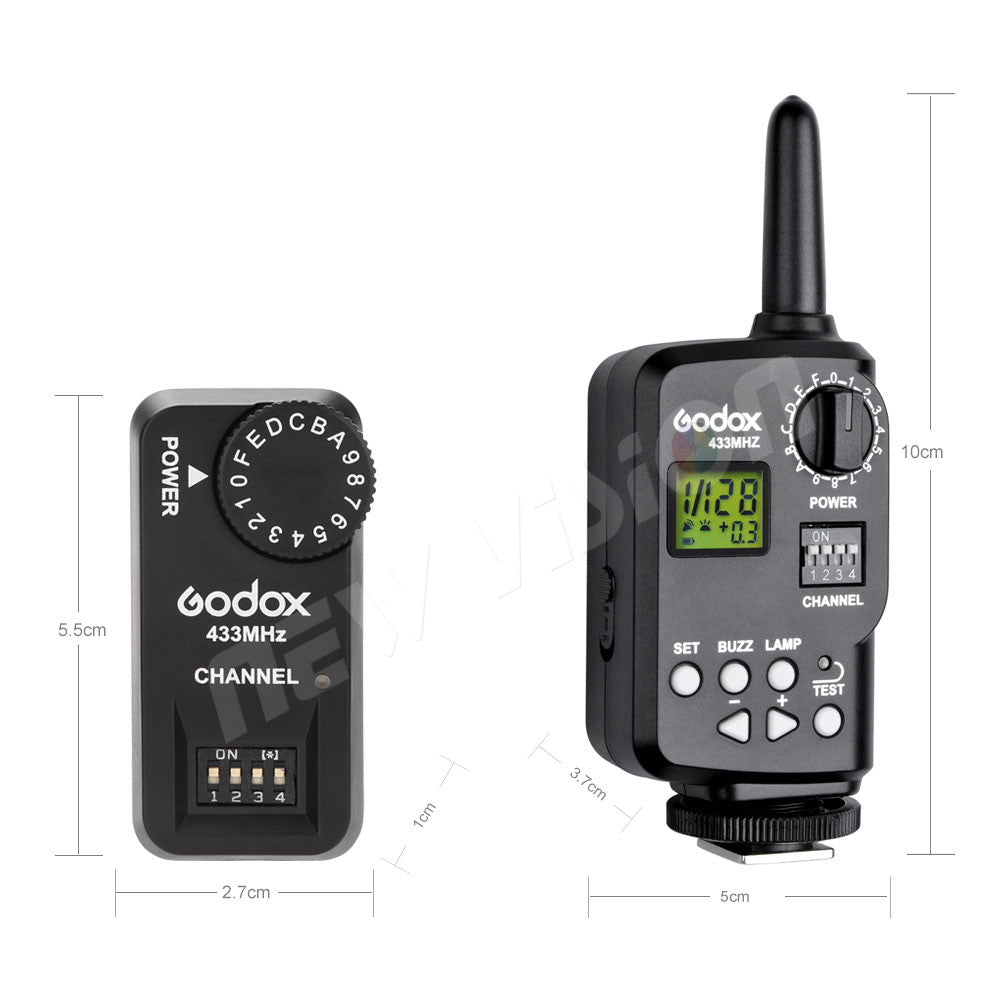 Godox Ft-16s Wireless Power Control Remote Trigger kit 1x Transmitter + 3x Receiver for Godox V850 V860C V860N Flash Speedlite