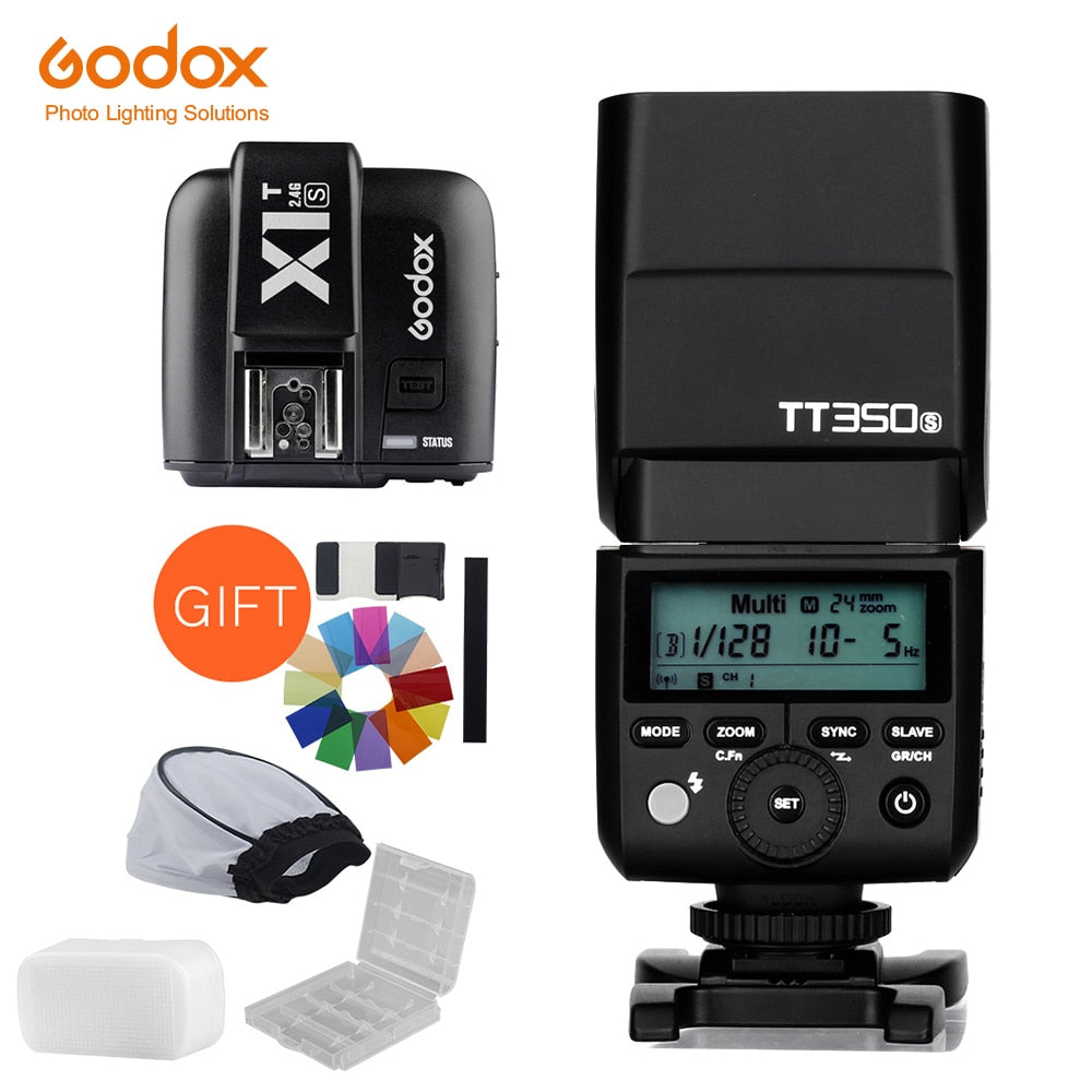 Godox Mini Speedlite TT350S Camera Flash TTL HSS GN36 +X1T-S Transmitter for Sony - Mode de vie Photography and Photo Presets