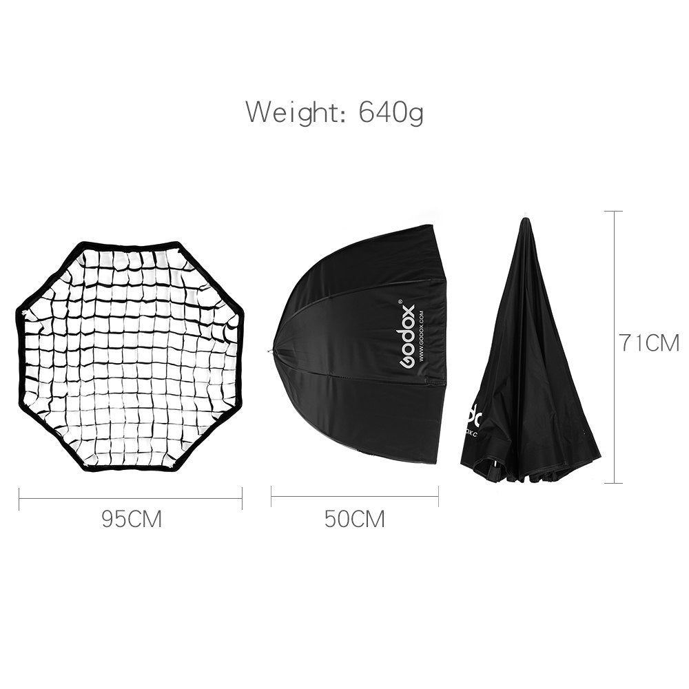 "Godox Portable 95cm 37.5"" Honeycomb Grid Umbrella Softbox Photo Softbox Reflector - Mode de vie Photography and Photo Presets"