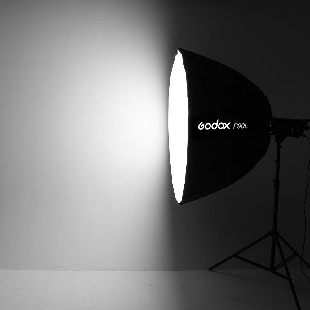 Godox Portable P90L 90CM Deep Parabolic Softbox Bowens Mount Studio Flash Speedlite - Mode de vie Photography and Photo Presets