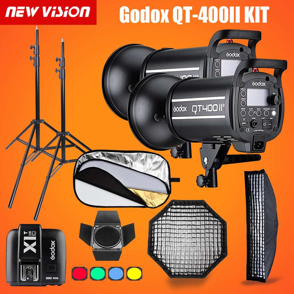 Godox QT400II 400WS GN76 1/8000s HSS Studio Flash - Mode de vie Photography and Photo Presets