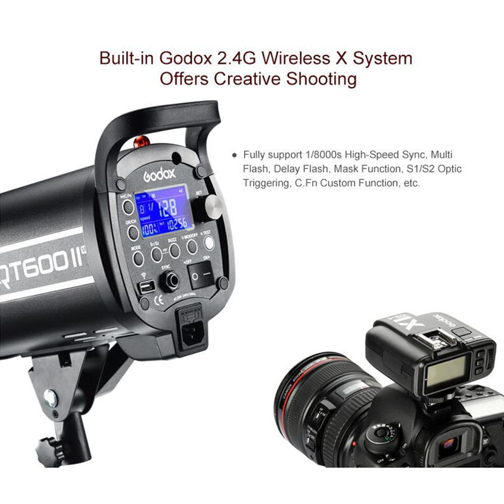 Godox QT400II 400WS GN76 1/8000s HSS Studio Flash Strobe Lighting Kit - Mode de vie Photography and Photo Presets