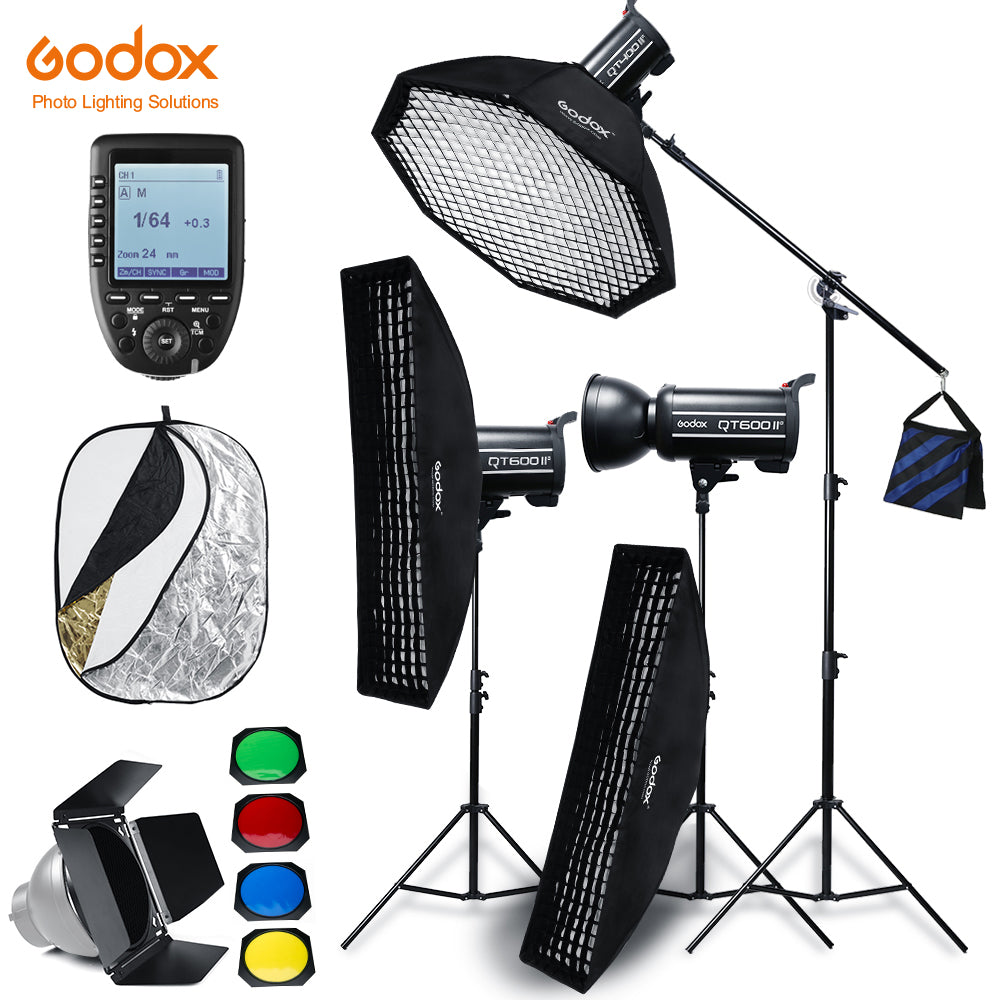 Godox QT600II 3x 600WS Built-in Wireless X System Studio High Speed Flash Lighting Kit - Mode de vie Photography and Photo Presets