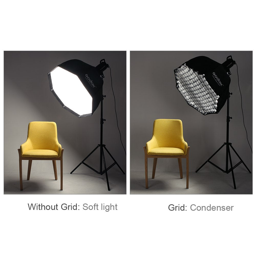 Godox SB-UE 120cm 47in Portable Octagonal Umbrella Softbox with Honeycomb Grid - Mode de vie Photography and Photo Presets