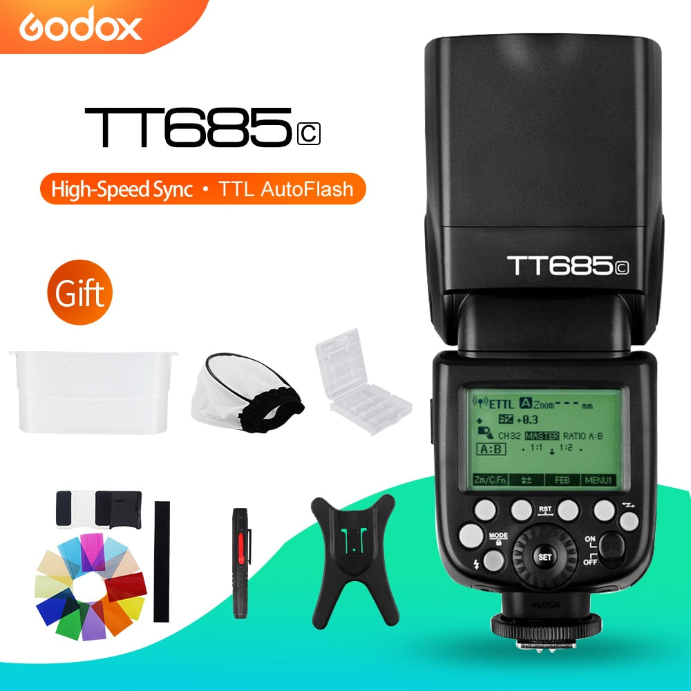 Godox TT685C Speedlite High-Speed Sync External TTL For Canon Flash - Mode de vie Photography and Photo Presets