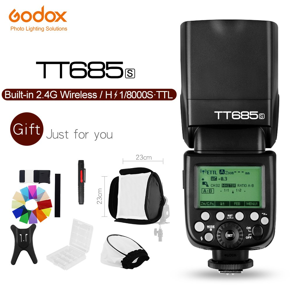Godox TT685S 2.4G HSS 1/8000s i-TTL GN60 Wireless Speedlite Flash for Sony - Mode de vie Photography and Photo Presets