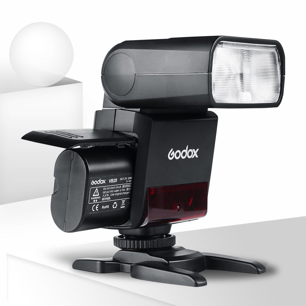 Godox V350O TTL 2.4G Camera Flash with Built-in Rechargeable 2000mAh Li-ion Battery - Mode de vie Photography and Photo Presets