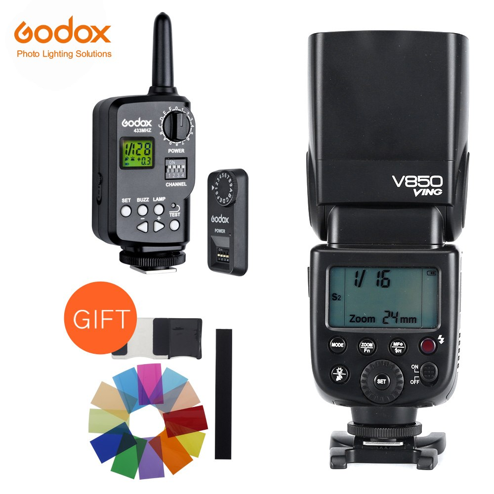 Godox V850 GN58 Speedlight w/ Rechargeable Li-ion Battery Speedlite Flash Light for Canon - Mode de vie Photography and Photo Presets
