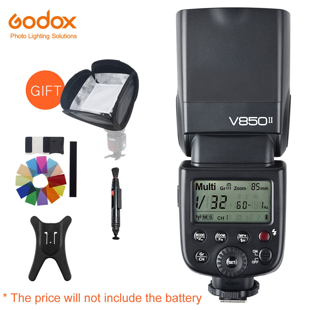 Godox V850II GN60 2.4G Wirless X System Speedlite w/ Flash Light Without VB18 Battery - Mode de vie Photography and Photo Presets