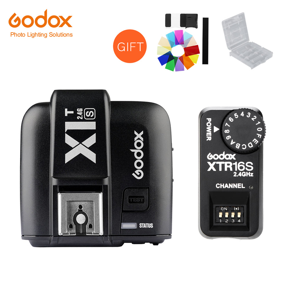 Godox X1T-S TTL HSS 2.4G Flash Transmitter Trigger + XTR-16S Receiver Set for Sony Camera V850 V860 - Mode de vie Photography and Photo Presets