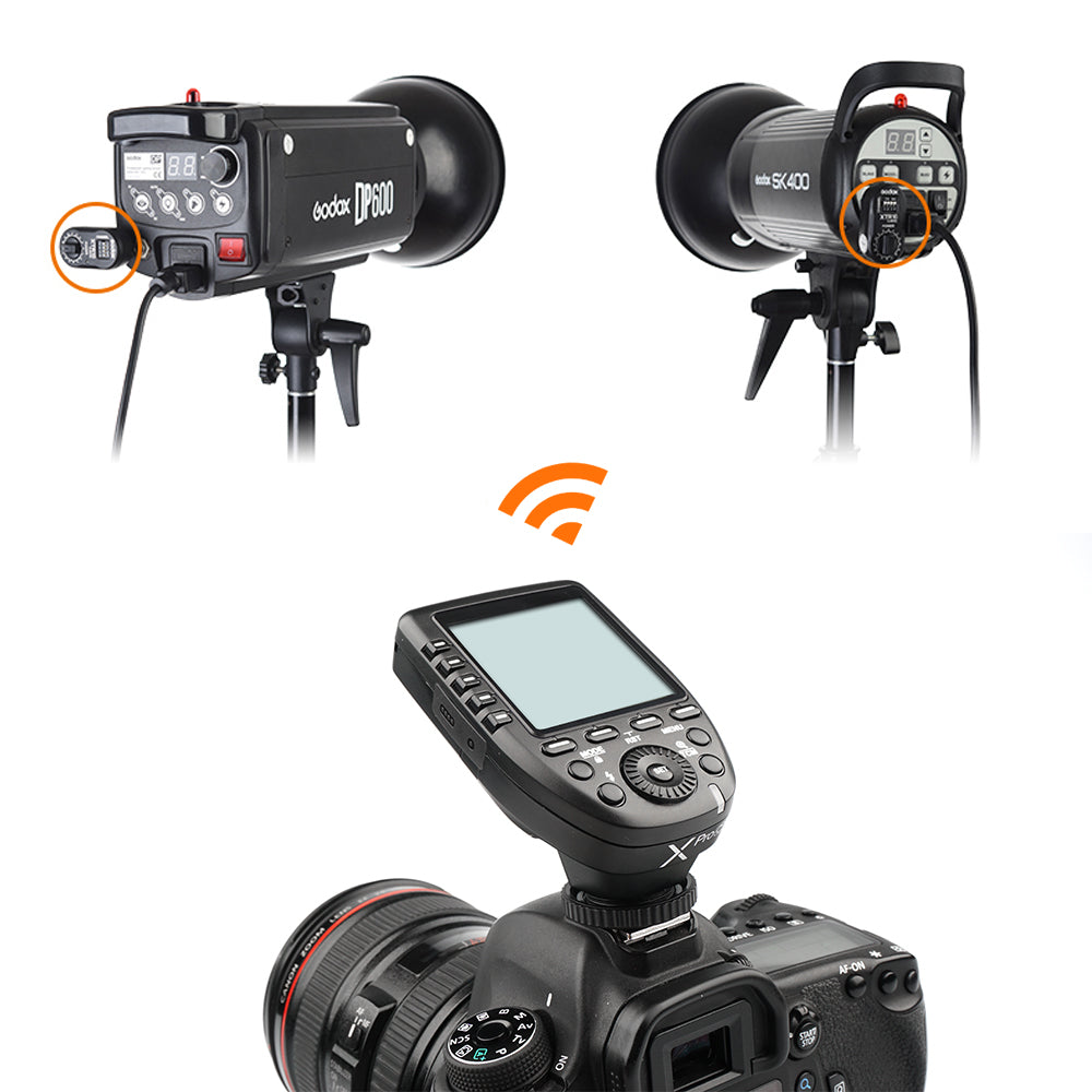 Godox XPro-C Flash Trigger Transmitter with E-TTL II 2.4G Wireless X System HSS LCD Screen + 2x XTR-16 Receiver  for Canon DSLR - Mode de vie Photography and Photo Presets