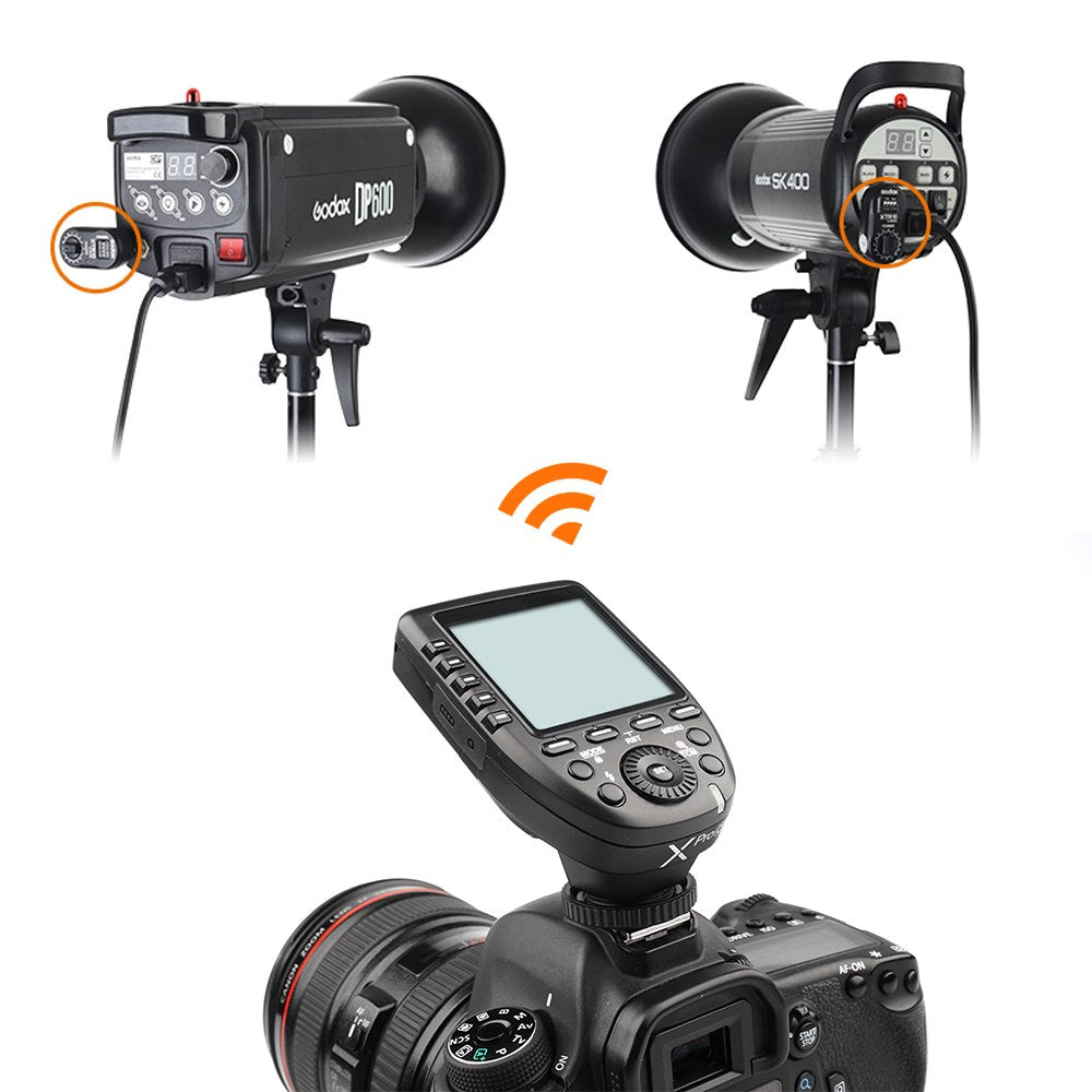 Godox XPro-C Flash Trigger Transmitter with E-TTL II 2.4G Wireless X System HSS LCD Screen + XTR-16 Receiver  for Canon DSLR - Mode de vie Photography and Photo Presets
