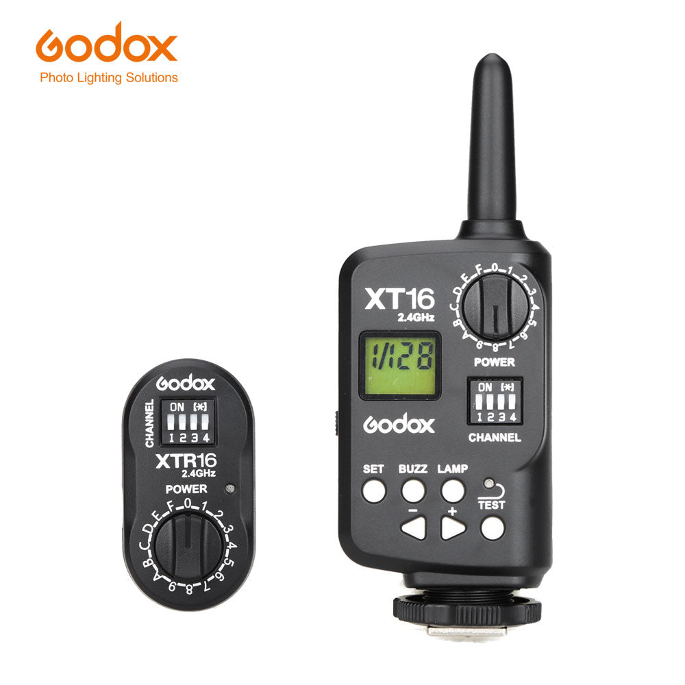 Godox XT-16 Wireless 2.4G Remote Control Flash Trigger + Receiver for Witstro Flash SK,QT,QS,GT,GS,DE,DP Series Studio Flashes - Mode de vie Photography and Photo Presets