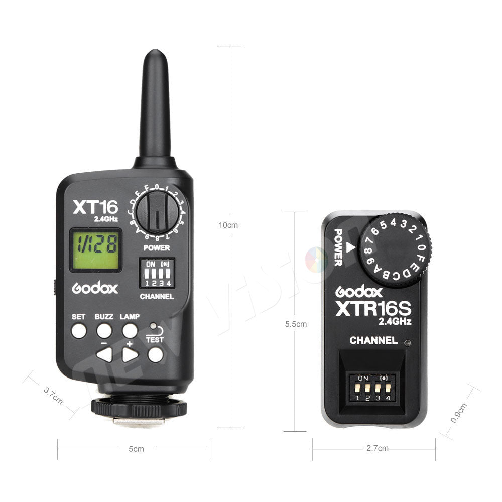 Godox XT-16S XT16S Wireless Radio-Controlled Flash Trigger Transmitter and Receiver for Godox Ving V850 V860C V860N Speedlite - Mode de vie Photography and Photo Presets