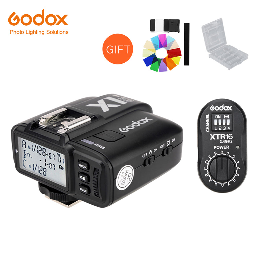 Godox XTR-16 Wireless 2.4G Power Control Flash Receivers + X1T-N TTL Wireless Transmitter for Nikon AD180 AD360 - Mode de vie Photography and Photo Presets