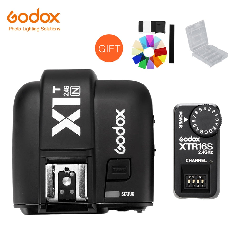 Godox XTR-16S Wireless 2.4G Power Control Flash Receivers + X1T-N Wireless Transmitter for Nikon V850 V860C V860N Flash - Mode de vie Photography and Photo Presets