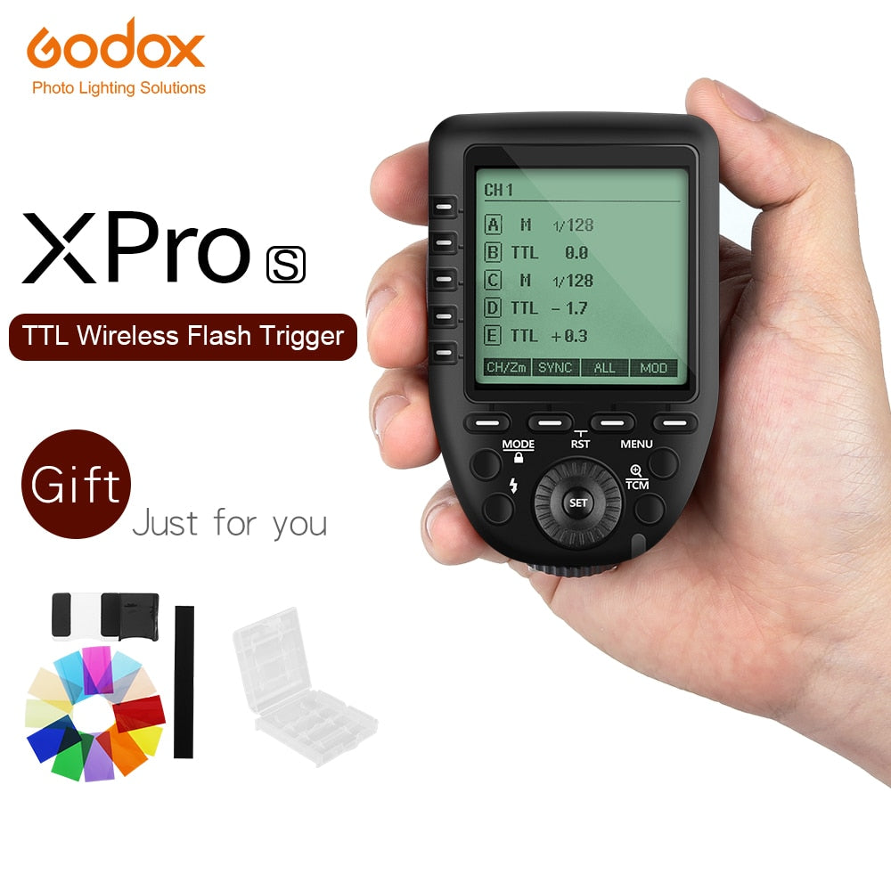 Godox Xpro-S TTL 2.4G Wireless X system Transmitter Trigger For Sony A77 II A99 A9 A7R III A350 Godox TT685S V860II-S - Mode de vie Photography and Photo Presets