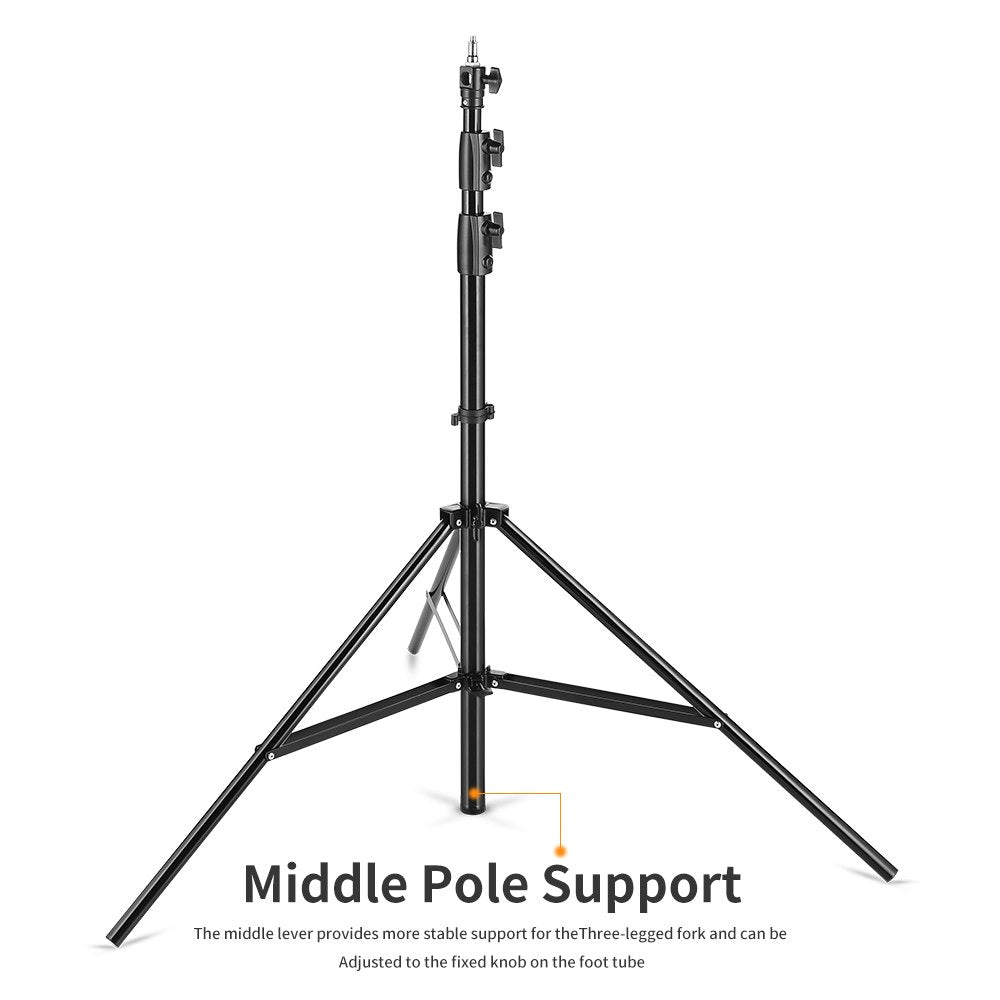 Improved 2.8 Meter / 9 ft Heavy Duty Impact Air Cushioned Video Studio Light Stand - Mode de vie Photography and Photo Presets