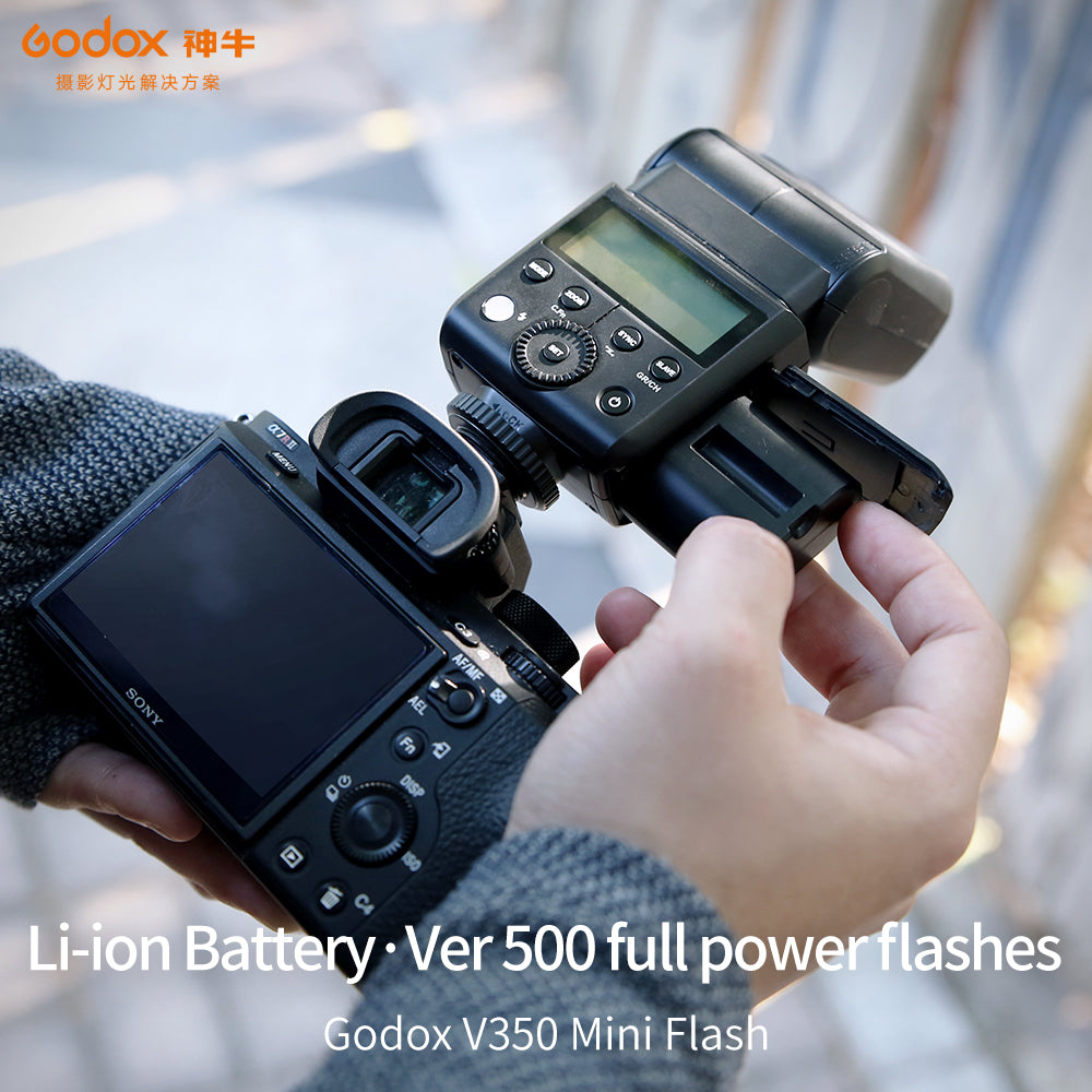 In Stock Godox 2x V350F TTL HSS 1/8000s Speedlite Flash Built-in 2000mAh Li-ion Battery - Mode de vie Photography and Photo Presets